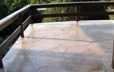The Images Below Are Of A Faux Flagstone Overlay Done Over Planked Wood Deck This Procedure Also Makes Ed Concrete Look Like New